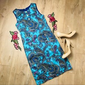 Talbots Paisley Sheath Dress